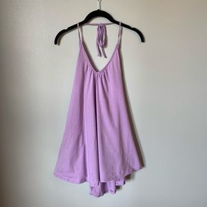 TOBI Lavender Tie Back Cotton Dress